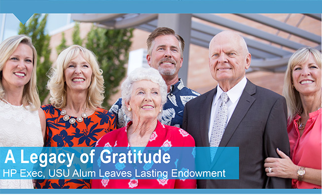 A Legacy of Gratitude - HP Exec, USU Alum Leaves Lasting Endowment