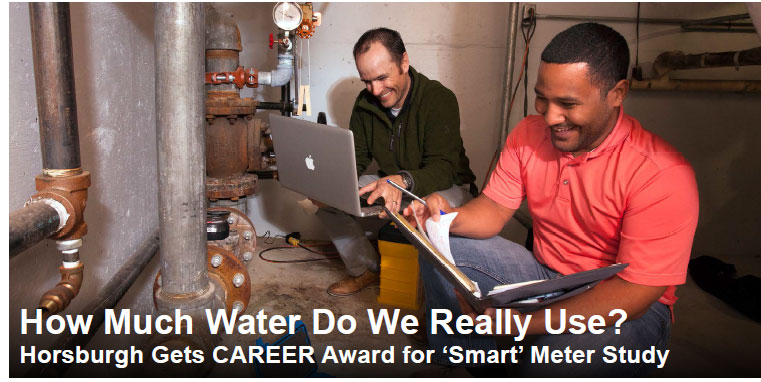 How Much Water Do We Really Use? - Horsburgh gets CAREER award for 'Smart' meter study