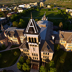 Aerial view of Old Main