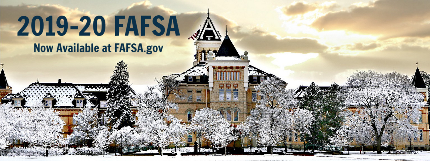 Old-Main and link to fafsa.gov