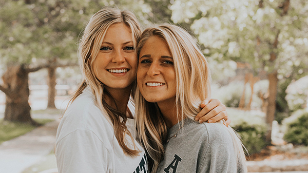 Members of a USU sorority share a bonding moment.