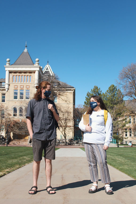 Students dressing for the weather to be #AggieEnergyWise.