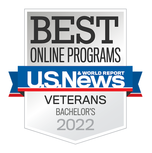 Voted Best Online Veteran's Programs 2021 US News and Word Report