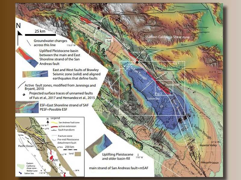Map of San Andreas Fault