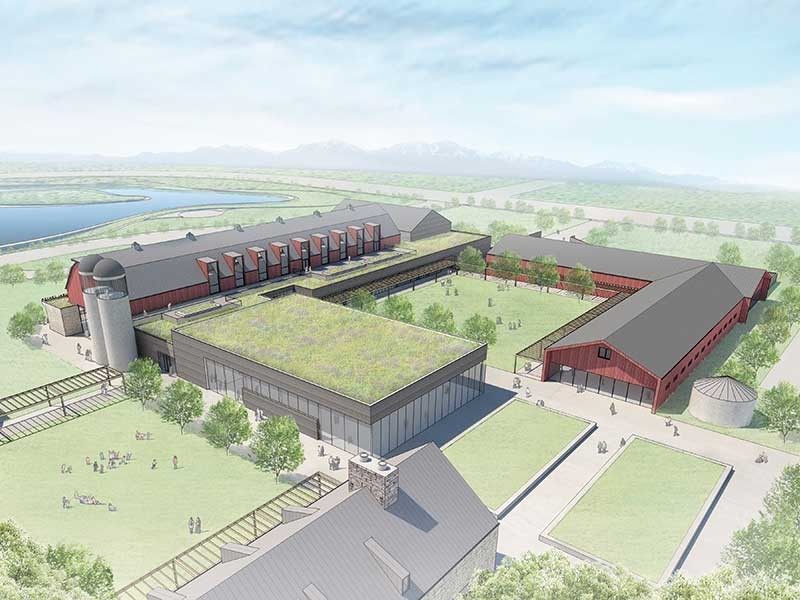 Rendering of the Bastian Agricultural Center