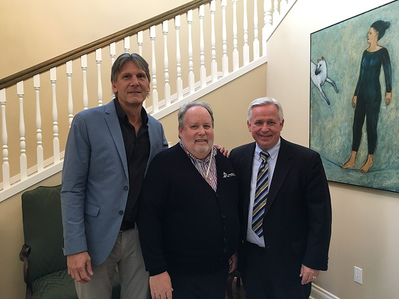 Bruce Duerden with USU First Gentleman John Cockett and Dean Craig Jessop