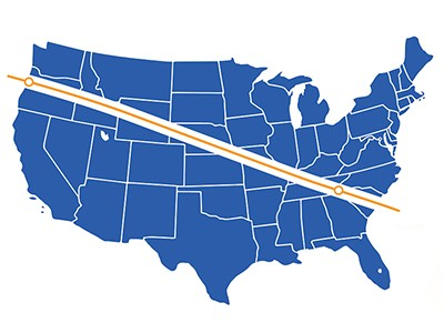 Solar eclipse Path of Totality U.S. map