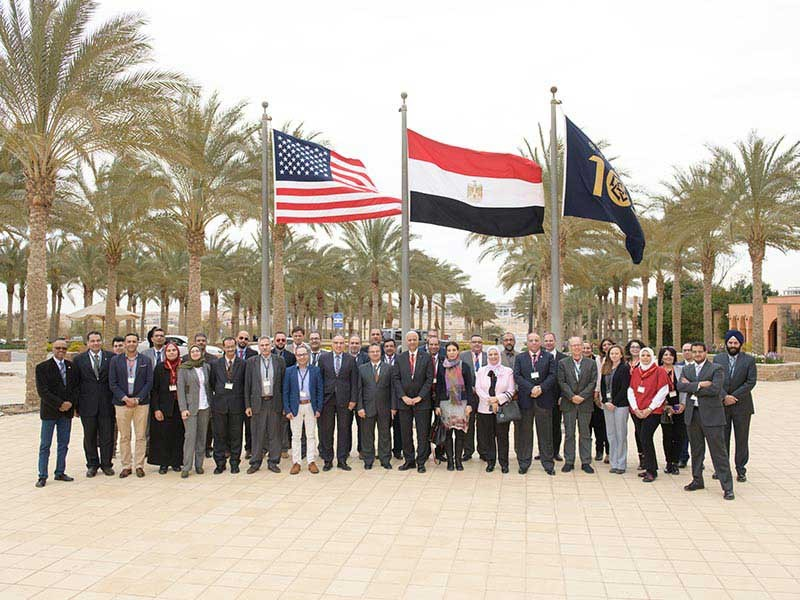 USU professors with Egyptian delegation