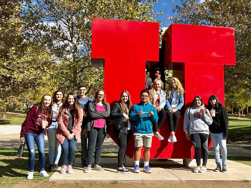 Logan High School students visit the University of Utah to see what college has to offer.