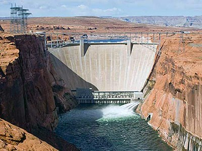 the Glen Canyon Dam