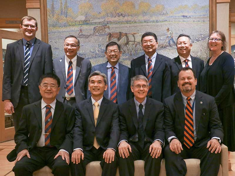 USU recently hosted administrators from National Chung Hsing University