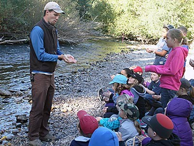Natural Resource Field Days activity at river