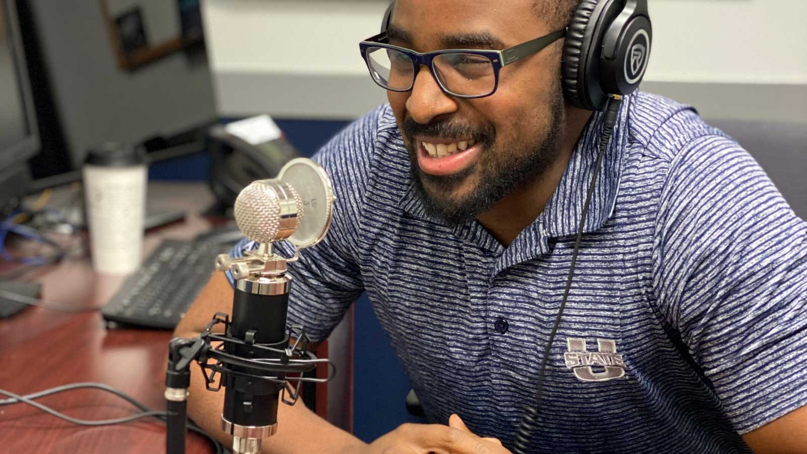 Isaiah Jones, USU's transition, parent and family coordinator creates a podcast.