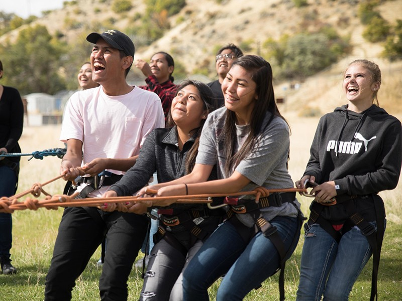 Ute Tribe student participate in activities