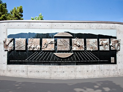 College of Agriculture and Applied Sciences' memorial sculpture at USU