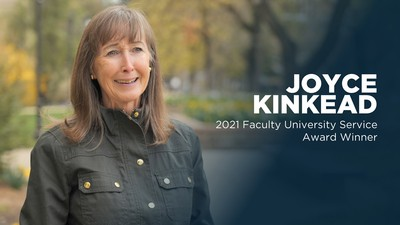 Distinguished Professor of English Joyce Kinkead is the 2021 Faculty University Service Award.