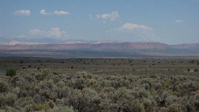 Utah prairie with mountain in the background.
