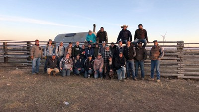 Animal science students gather at the Broadbent Ranch for Sheep Days.