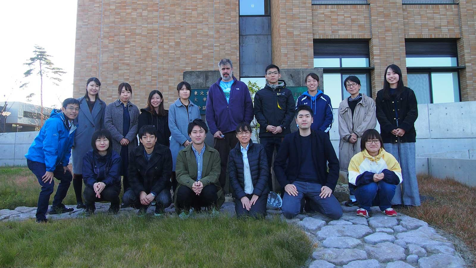 Charles Hanifin with fellow scientists from Tohoku University in Japan.