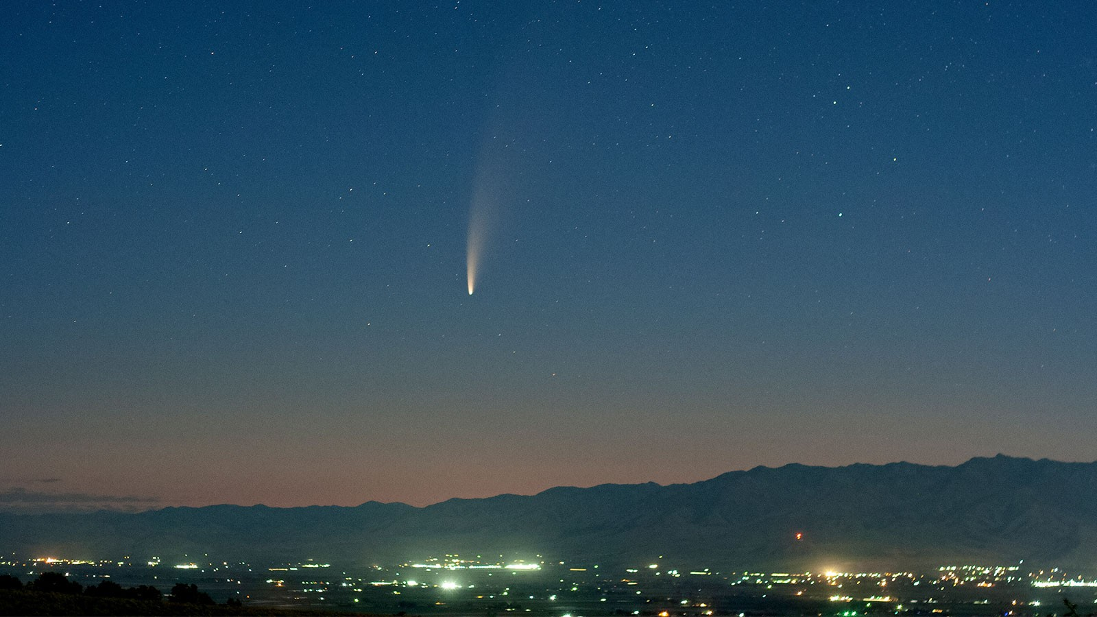 James Champagne captured this image of Comet NEOWISE from the Deep Canyon Trailhead in Cache Valley.