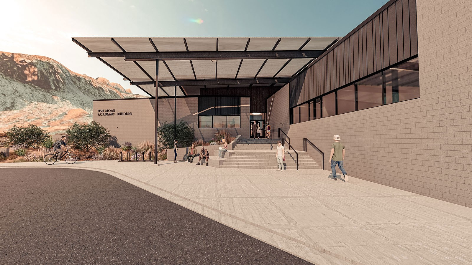Rendering of USU Moab east entrance.