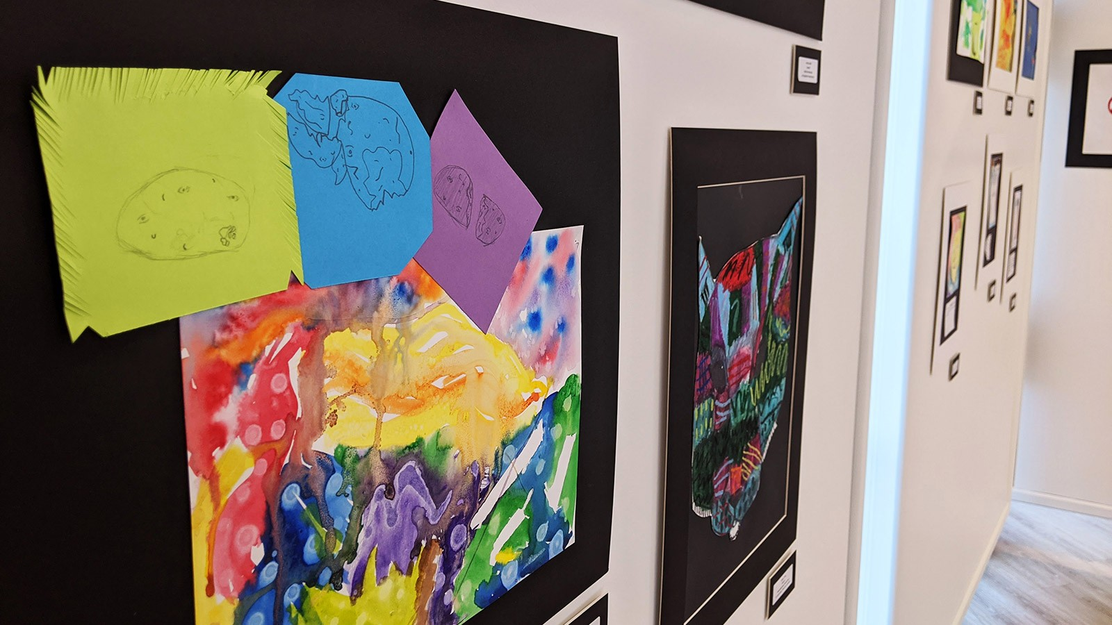Student art on display at the Lyndsley Wilkerson Gallery.