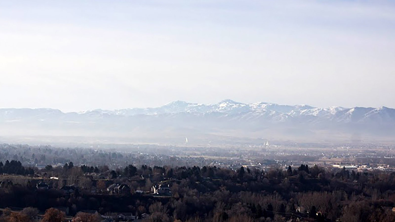 View of Cache Valley in invesion.