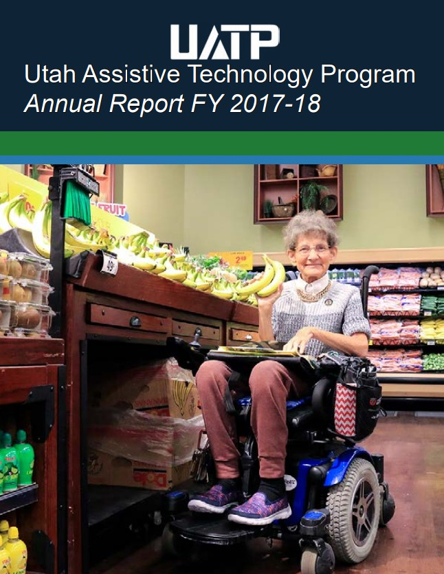 Cover image, annual report, woman in wheelchair